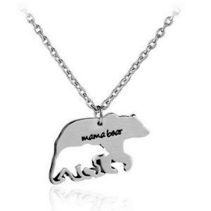 "Mama Bear"" Charm necklace jewelry"